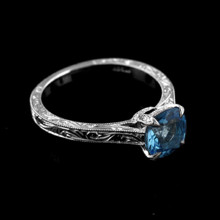 220x220 sq 1390239402661 platinum 950 hand engraved vintage style blue topa