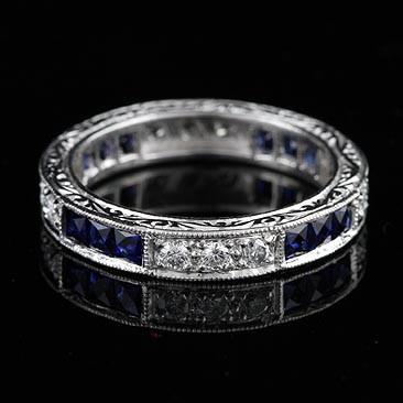 Blue Silver White Diamond Fall Platinum Sapphire Silver Spring