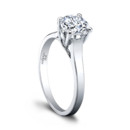 The Elisabeth Engagement Ring A classic beauty. With sleek, slightly beveled edges and a dramatic lattice look, the Elisabeth Engagement Ring is a unique take on the classic solitaire. Elisabeth is designed to beautifully accentuate any center stone you choose, and we offer several widths to complement your stone's size and shape. Available in several widths. Can be custom made to fit any shape center stone. Hand crafted in either Platinum, 18k Gold, or 14k Gold.