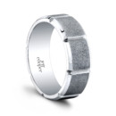 The Efrain Men's Wedding Band Clean design with intriguing detail. The men's segmented 7.5mm wedding band. The Efrain Wedding Band is hand cut from solid metal to exact angles and specifications, and polished edge by edge for hours on end. Efrain is available in multiple widths, and with or without diamonds. 100% hand crafted in either Platinum, 18k Gold, 14K Gold or Palladium.