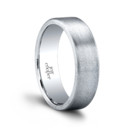 The Miles Men's Wedding Band Smooth and smart. Our Miles Men's Wedding Band is 6mm and brush-finished, with a distinctive profile edge. Its thickness, rolled edge and smooth texture give it a subtle, sophisticated difference. Polished for hours on end for the perfect finish. Miles is available in multiple widths, and with or without diamonds. 100% hand crafted in either Platinum, 18k Gold, 14K Gold or Palladium.