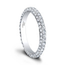 The Tatiana Eternity Wedding Band <br /> (0.56 ttl) Lovely Tatiana, made even more brilliant. The Tatiana Eternity Band's hand set pavé diamonds lend it a thrilling sparkle. Wear it on its own, with a matching Tatiana Engagement Ring, or choose your own.