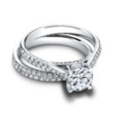 The Tory Set (ring 0.28 ttl; band 0.31 ttl) Understated glamour defines the Tory Set. Together, the Tory Engagement Ring and Tory Wedding Band create a chic, timeless look. Can be custom made to fit any shape center stone. Hand crafted in either Platinum, 18K Gold or 14K Gold.