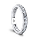 The Heidi Eternity Wedding Band <br />(1.009 ttl) Infinitely romantic. The Heidi Eternity Wedding Band sparkles with bead-set diamonds that flow all the way around. A millgrain channel wall is a special, vintage-inspired detail. Hand crafted in either Platinum, 18K Gold or 14K Gold.