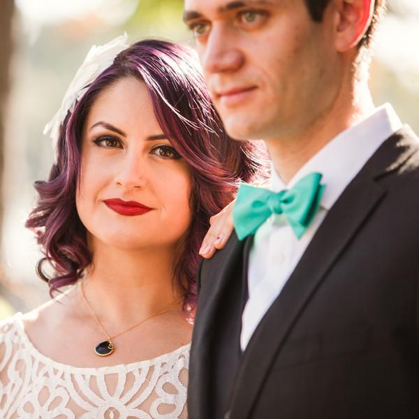 Venue: Women's Twentieth Century Club of Eagle Rock Caterer: Cacao Mexicatessan Cake: Portos Bakery Officiant: LA Wedding Women Hair Stylist: Double O Salon