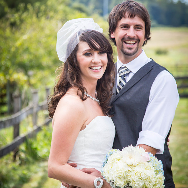 Venue:Blue Hound Farm  Video: Wedding Bug Videography  Ceremony Musician: Molly Rahe Violinist  Dress Store: Tara's Bridal  Groom and Groomsmen Attire:Mens Wearhouse  Rentals: B & B Rentals  DJ: B & B Light and Sound  Makeup Artist:Riki Smith