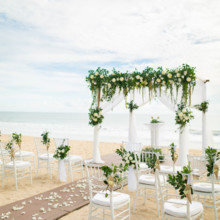 220x220 sq 1513627051067 ceremony on beach set up