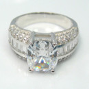 5A Quality CZ Engagement Ring set in 9-18 karat gold!