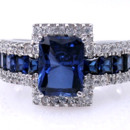 5A Quality Sapphire CZ Engagement Ring set in 9-18 karat gold!