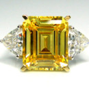 5A Quality Canary CZ Engagement Ring set in 9-18 karat gold!