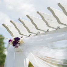 Purple New York Garden Wedding Real Wedding Photos By