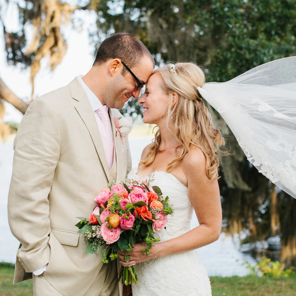 Caterer: Hamby Catering & Events Event Planner: Margaret McKenzie Groom's Attire: Calvin Klein Floral Designer: WildFlowers, Inc. Musicians: The Plantation Singers Cake: Michaelangelo's Kitchen DJ: FingerSnappin' Entertainment Transportation: Lowcountry Valet & Shuttle Co. Bridesmaid Dresses: Bill Levkoff Venue: Old Wide Awake Plantation