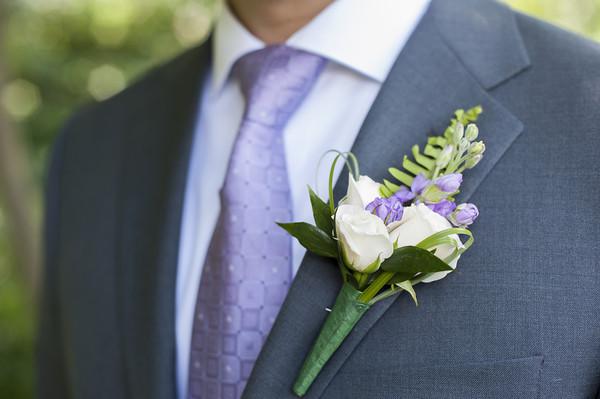 Purple New York Garden Wedding Real Wedding Photos By