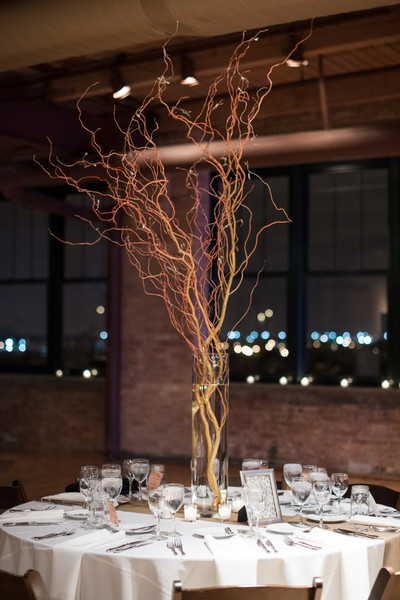 Rustic Blossoming Branches Centerpiece Centerpieces Indoor Reception ...