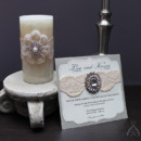 Blushing Bride - Invitation and candle