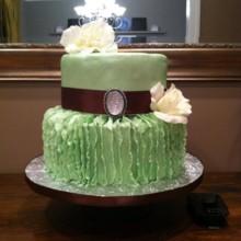 220x220 sq 1390147576903 vertical ruffle mint green cak