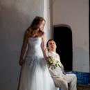 Real wedding: Tania & Sotiris. Beautiful Greek summer wedding with a bohemian touch. Soft smokey makeup & half updo for medium hair.