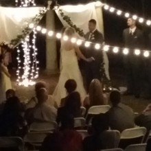 220x220 sq 1426987801538 outdoor ceremony lighted