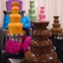 Choose your color, chocolate fountains! Perfect for weddings, bridal showers, bachelorette parties and your next event!