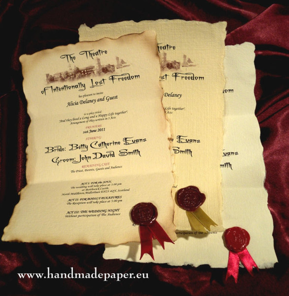 Romeo And Juliet Wedding Invitations: London, Wedding Invitation