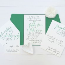 220x220 sq 1493299198044 jsd modern wedding invitation with lettering
