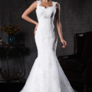 11SW00146  Mermaid fit with strap details imported French lace