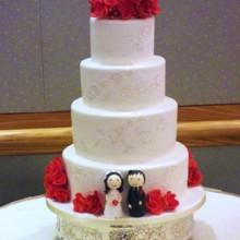 Pink Posy Wedding Cake Redwood City Ca Weddingwire