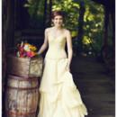 Kate Beaded Wool Wedding Bustier and Odessa Organic Linen Wedding Skirt