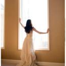 Kate Beaded Wool Bustier and Odessa Organic Linen Wedding Skirt with Silk Beaded Mesh Long Sleeve Top.
