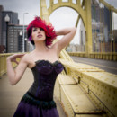 Jessica Hemp/Silk Satin and Vintage Lace Bustier and Skirt