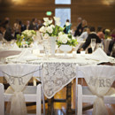 Reception Venue: The Loft at Russell's Event Planner: Jesson Mata Floral Designer: QFC Flowers