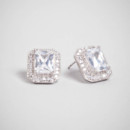 Crystal Otto Studs <br /> Gorgeous rectangular crystals get a shot of vintage appeal with the addition of a delicate pave setting.