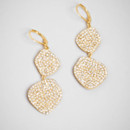 Pave Petal Drops  <br /> A classic organic shape gets a decidedly chic kick with the addition of dozens of glittery pave crystals.