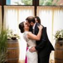 <p> Venue: Brooklyn Winery</p>  <p> Dress Designer: Theia Couture  from Lovely Bride</p>  <p> Groom&#39;s Attire: Hugo Boss </p>  <p> Hair and Makeup Artist: Jackie Schneider Beauty</p>  <p> Floral Designer: Miss Fancy Plants </p>  <p> Officiant: Lauren Compitello </p>  <p> Ceremony Musicians: Central Park Strings</p>