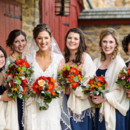 Dress Designer:Maggie SotterofromIrini's Originals  Bridesmaid Dresses:Bill LevkofffromIrini's Originals  Floral Designer:Petals with Style