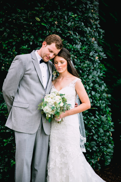 Bridal Gown: Casablanca atAffordable Bridal  Bridal Shoes: Ivory Wedge  Hair Stylist/Make-Up Artist:J. Thomas Salon