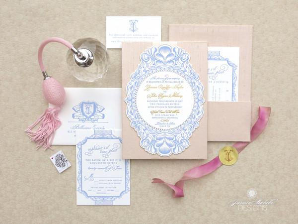 Jasmin Michelle Designs - Glendora, CA Wedding Invitation