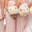 Bridesmaid Dresses: White by Vera Wang from David's Bridal  Floral Designer: Black Iris Floral Events