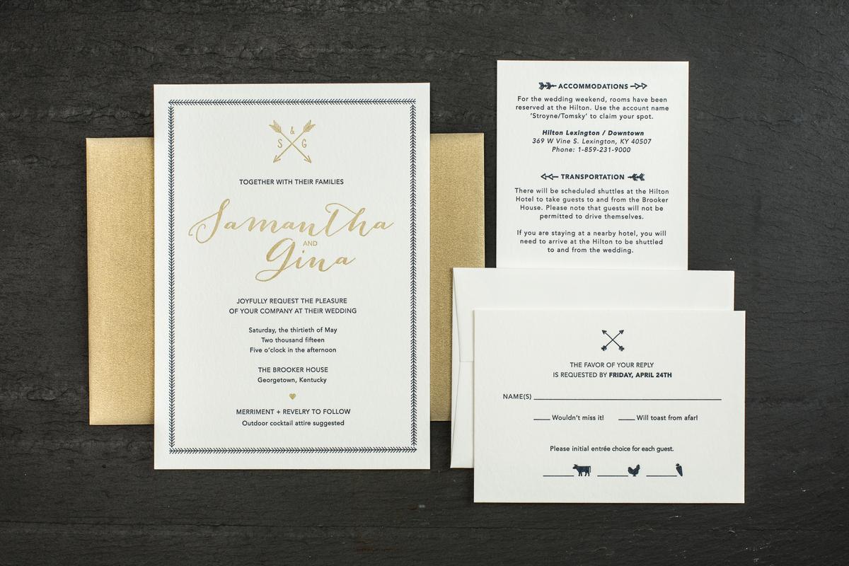 Sapling Press - Invitations - Pittsburgh, PA - WeddingWire