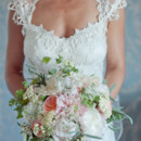 Dress Designer: Claire Pettibone  Dress Store: Kleinfeld Bridal  Floral Designer: Petal Beach