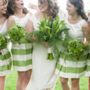 Dress Designer:Kathryn Conover, NYC  Bridesmaid Dresses:Kathyrn Conover, NYC(tops) andAnne M. Cramer(skirts)  Floral Designer:Weber's Westdale