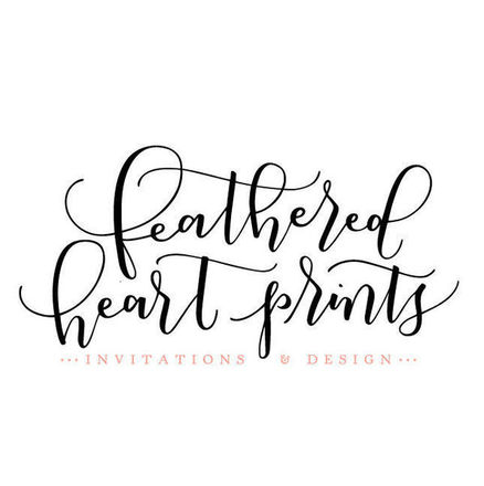 Feathered Heart Prints
