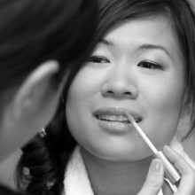 220x220 sq 1455140658034 bride   getting ready black white