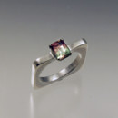 custom ring with watermelon tourmaline