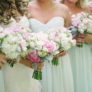 Bridesmaid Dresses:Donna Morganfrom Nordstrom  Floral Designer:Bella Florals by Theresa
