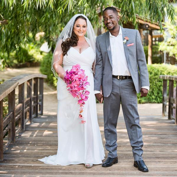 Coral California Garden Wedding, Real Wedding Photos By