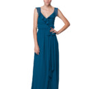 Lacey Long This romantic wrap dress is not only beautiful and effortless; it is also incredibly comfortable and easy to wear! The delicate ruffles on the neckline are flirty and sweet and the floor length wrap skirt is finished off with a sash to flatter any figure. Variety of colors available