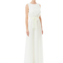 Tina Long Lace A tie back dress that is still bra friendly! This elastic waisted dress is just as enchanting coming as it is going. The shorter length is thoroughly suited for a warmer weather wedding or the bridal shower! Variety of colors available