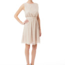 Tina Short Lace A tie back dress that is still bra friendly! This elastic waisted dress is just as enchanting coming as it is going. The shorter length is thoroughly suited for a warmer weather wedding or the bridal shower! Variety of colors available