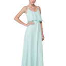 Dani Long The Dani is simultaneously effortless and ethereal, allowing you to transition from bridesmaid to brunch to roof top party seamlessly. Simple spaghetti straps and flounce top allow for easy accessorizing while the sash at the natural waist helps define the silhouette. Floor grazing length is perfect for casual sandals or a killer pair of heels Variety of colors available